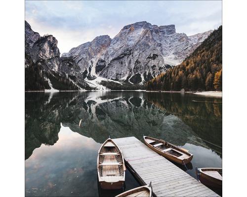 Tableau en verre Lac sauvage 30x30 cm