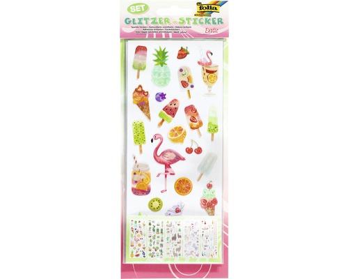 Sticker scintillant Exotic 128 pces