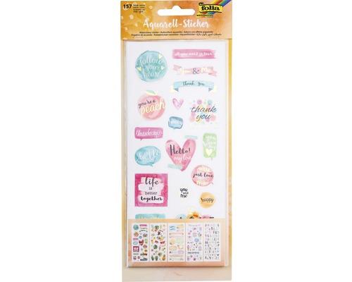 Sticker aquarelle 157 pces