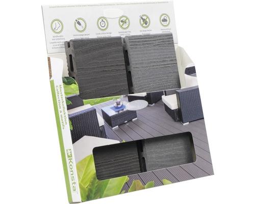 Boîte d'échantillons de Konsta planches pour terrasse WPC XL 20 mm
