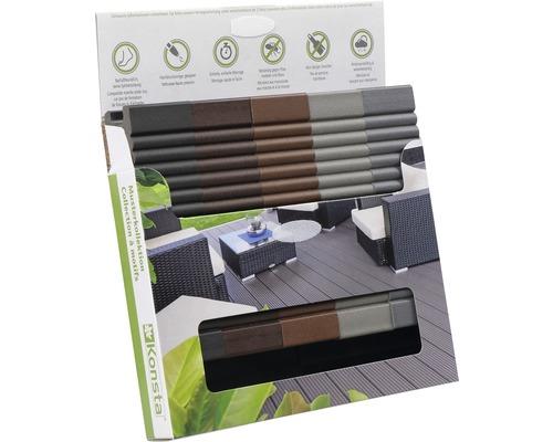 Boîte d'échantillons de Konsta planches pour terrasse WPC uniquement dépoli