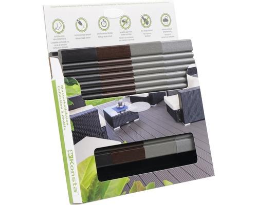Boîte d'échantillons de Konsta planches pour terrasse WPC uniquement non traité