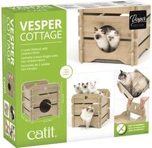 Meuble pour chat Catit Vesper Cottage 50 x 50 x 49 cm chêne-thumb-1