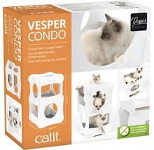 Meuble pour chat Catit Vesper Condo 48,5 x 48,5 x 80 cm blanc-thumb-1