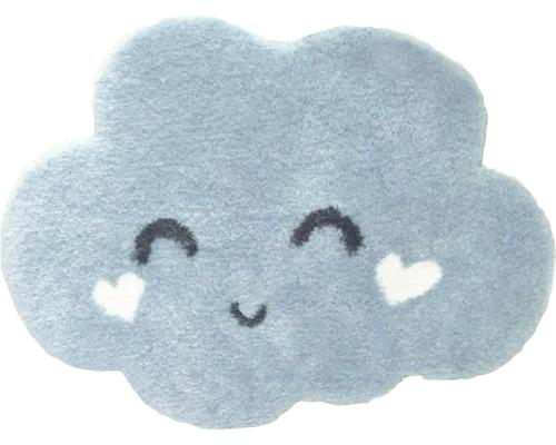 Tapis nuage bleu 60x80 cm