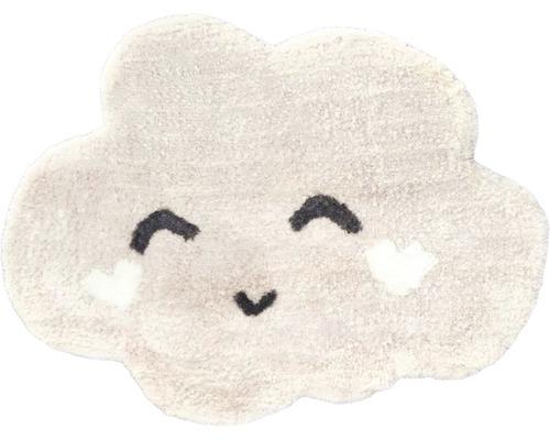 Tapis nuage rose 60x80 cm
