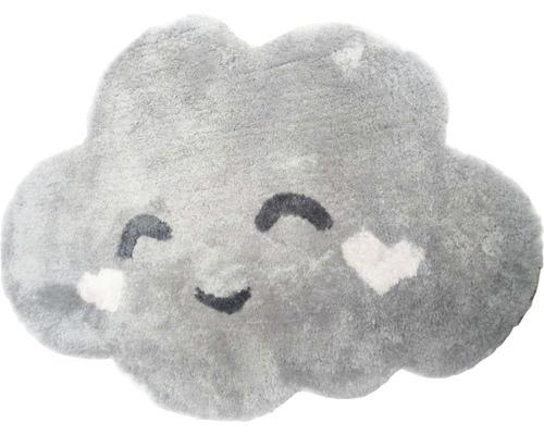 Tapis nuage gris 60x80 cm