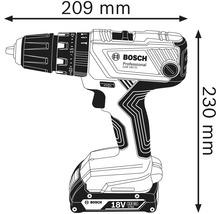 Perceuse-visseuse à percussion sans fil Bosch Professional GSB 18V-21, avec L-BOXX 136, sans batterie ni chargeur-thumb-1