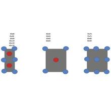 Plot de fixation réglable KIT SH1 25-40 mm 4 mm joint 10 pces avec 5 boutons bloqueurs-thumb-2
