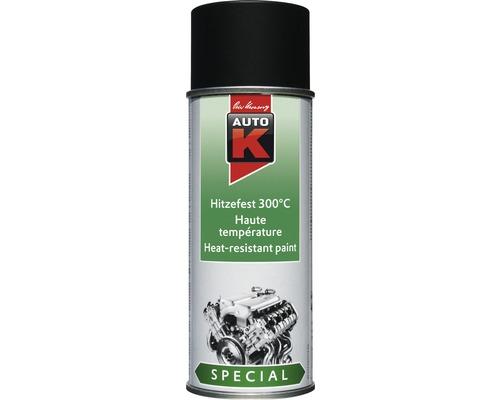 Auto-K Spécial peinture en aérosol noir 400ml résistant à la chaleur jusqu''à 300°C