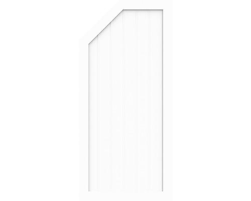 Élément d''extrémité BasicLine type L à gauche 90 x 150/120 cm, blanc