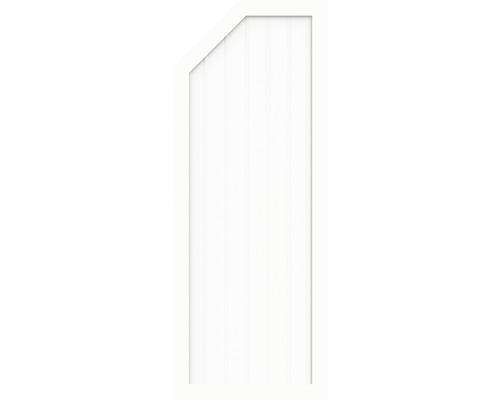 Élément d''extrémité BasicLine type E à gauche 90 x 180/150 cm, blanc