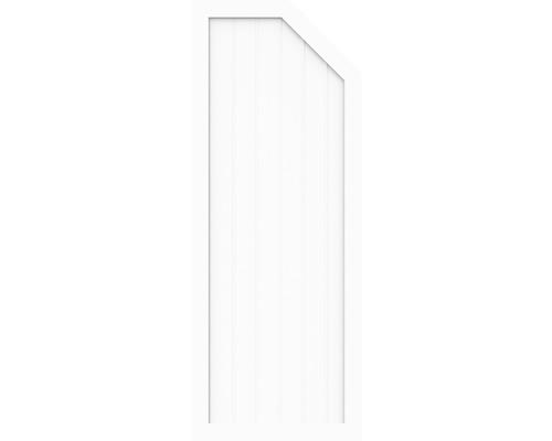Élément d''extrémité BasicLine type E à droite 90 x 180/150 cm, blanc