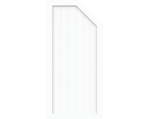 Élément d''extrémité BasicLine type L à droite 90 x 150/120 cm, blanc