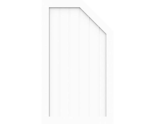 Élément d''extrémité BasicLine type M à droite 90 x 120/90 cm, blanc