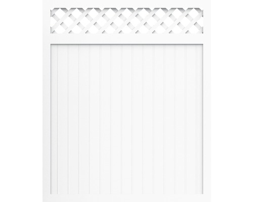 Élément principal BasicLine type C 180 x 180 cm, blanc