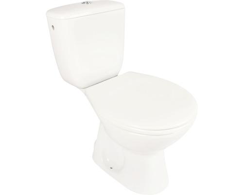WC-Kombination Laguna Abgang Senkrecht mit Spülkasten und WC-Sitz weiß