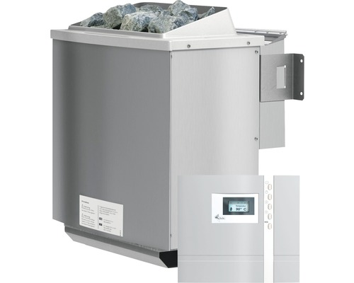 Poêle bio combi Karibu 4,5kW commande externe incluse Premium Bio