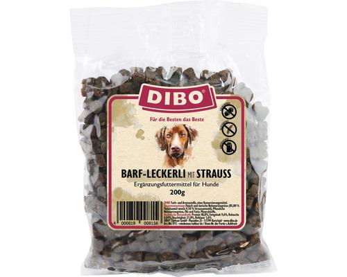 Snack pour chiens DIBO-BARF-Leckerli Strauss 200g