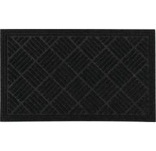 Tapis éco Contures noir 80x120 cm-thumb-0