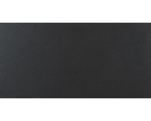 Carrelage de sol en grès-cérame fin Daly Vulcano noir 30x60cm rectifié Lapp.