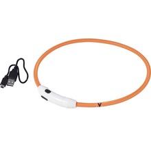 Collier dobar LED nylon 8mm 34-64cm orange-thumb-0