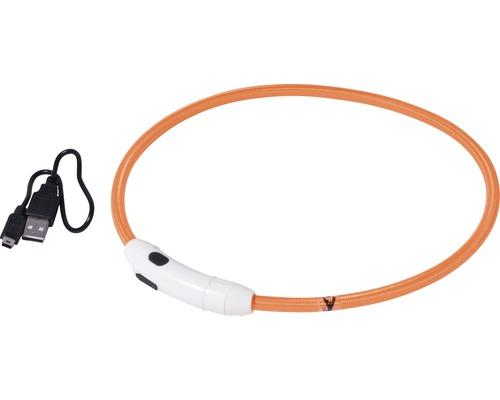 Collier dobar LED nylon 8mm 34-64cm orange-0