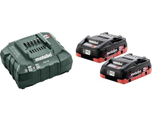 Kit de batteries Metabo 18V LiHD (4,0 Ah) batteries + chargeur
