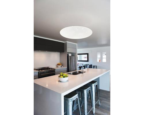 LED Deckenleuchte RGB CCT dimmbar 34W 5400 lm 2565 K warmweiß Ø 580 mm mit Fernbedienung Crosslink weiß