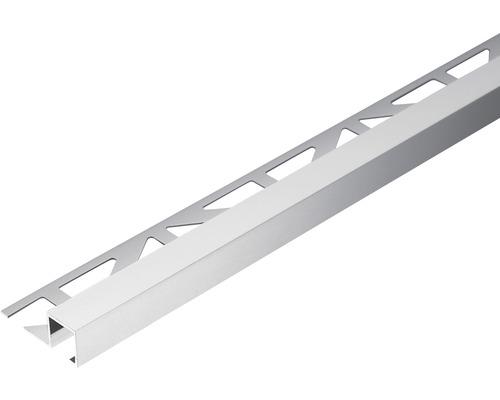 Profilé de finition Dural Squareline 10 mm longueur 250 cm aluminium naturel-0