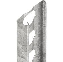 Profilé de finition à crépir en acier 10mm, longueur: 2,50m, zingué, hauteur: 32mm, lot de 25pièces-thumb-0