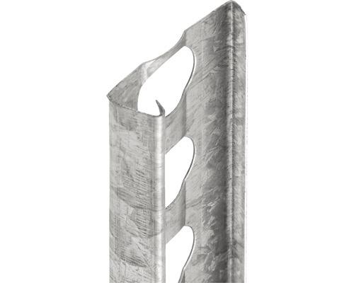 Profilé de finition à crépir en acier 10mm, longueur: 2,50m, zingué, hauteur: 32mm, lot de 25pièces-0