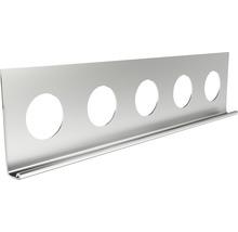 Profilé de finition à crépir en acier inoxydable 10mm, longueur: 2,50m, hauteur: 32mm, lot de 25pièces-thumb-0