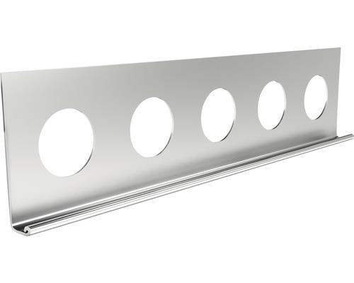 Profilé de finition à crépir en acier inoxydable 10mm, longueur: 2,50m, hauteur: 32mm, lot de 25pièces-0