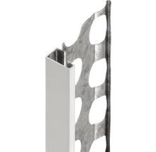 Profilé de finition à crépir en acier 14mm avec bec en PVC, longueur: 2,50m, zingué, lot de 25pièces-thumb-0