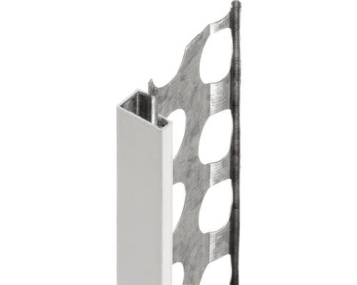 Profilé de finition à crépir en acier 14mm avec bec en PVC, longueur: 2,50m, zingué, lot de 25pièces-0