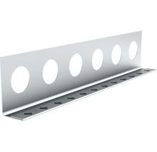 Profilé de finition à crépir en acier 14mm, longueur: 2,50m, zingué, lot de 25pièces-thumb-0