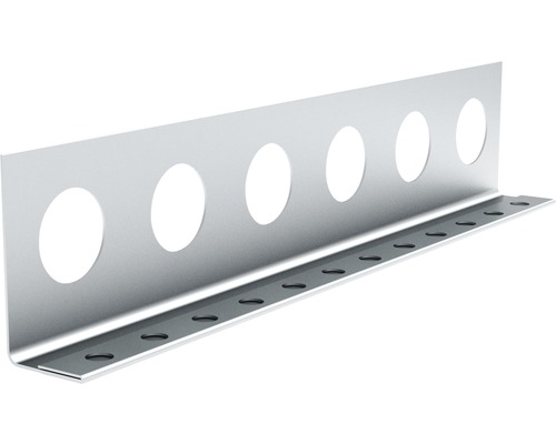 Profilé de finition à crépir en acier 14mm, longueur: 2,50m, zingué, lot de 25pièces-0