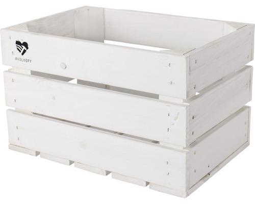 Caisse Buildify blanc 34x23x21 cm