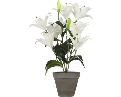 Plante artificielle lys tigré Ø13,5cm h47cm blanc