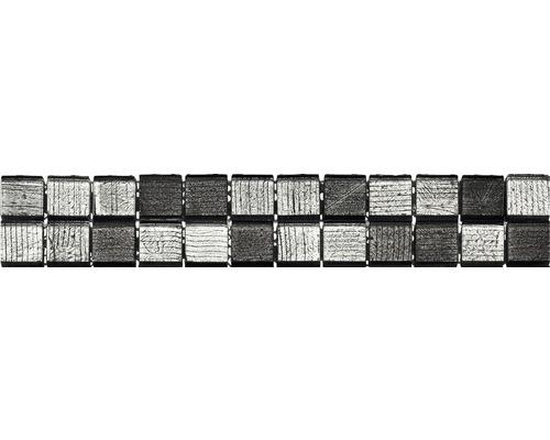 Bordure GL-510004, argent-noir, 29,8x4,8 cm