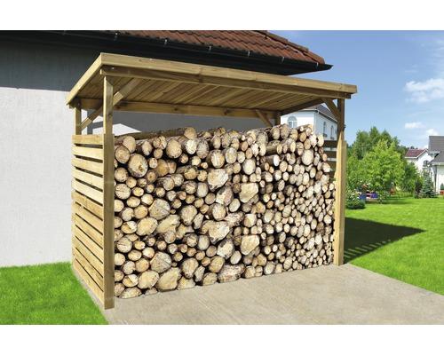 Abri bûches weka pour bois de chauffage 663 B taille2 274x131cm nature