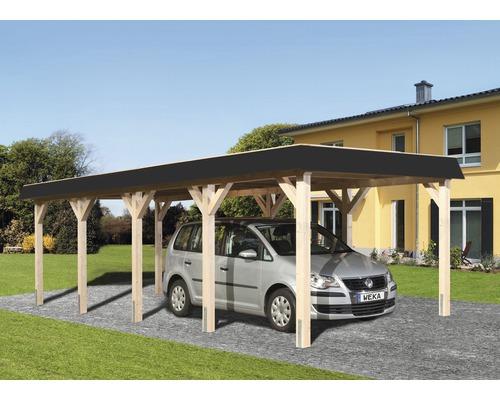 Carport simple weka à toit plat 615 taille2 337x832cm nature