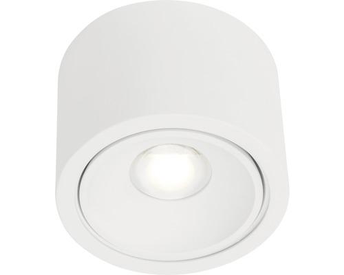 Projecteur de plafond à LED AEG 9W 850lm 3000K blanc chaud Lxlxh 128x128x90mm Leca blanc à 1ampoule à intensité lumineuse variable à partir d''un variateur externe