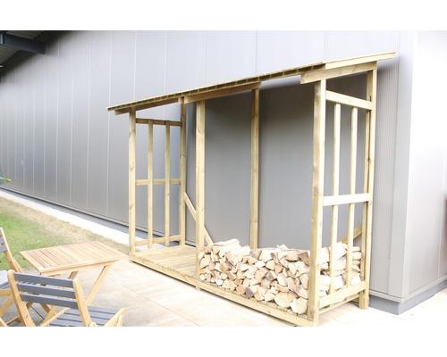 Dépot de bois de chauffage 300x100x200cm traité en autoclave par imprégnation