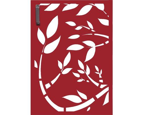 Porte pour poubelle GABIO 120l Floral 65x90 cm rouge rubis