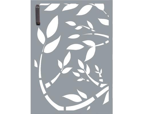 Porte pour poubelle GABIO 120l Floral 65x90 cm gris clair