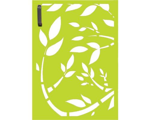Porte pour poubelle GABIO 120l Floral 65x90 cm vert tendance