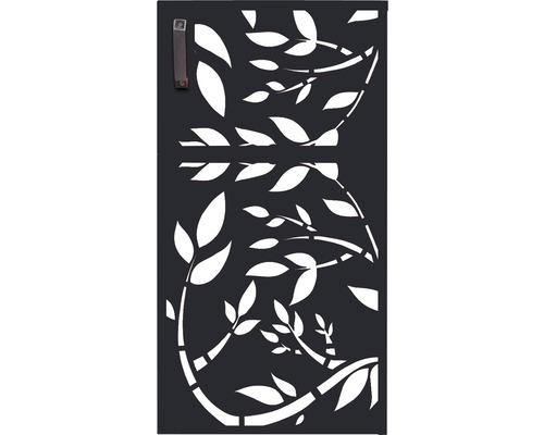 Porte pour poubelle GABIO 240l Floral 73x135 cm anthracite