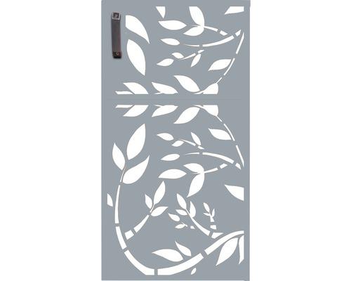 Porte pour poubelle GABIO 240l Floral 73x135 cm gris clair